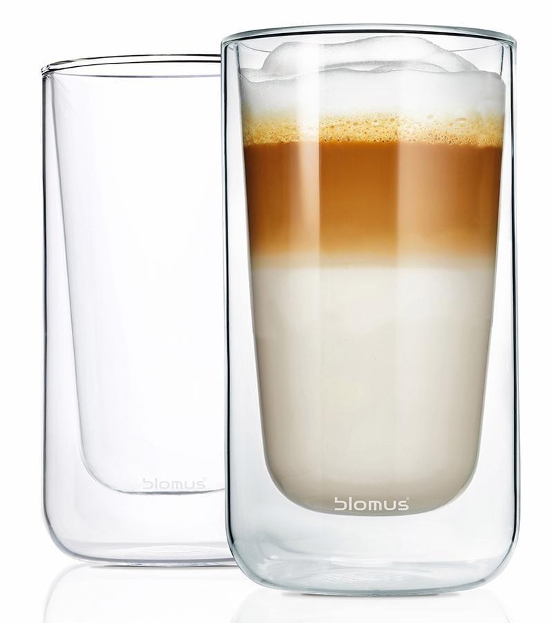 BLOMUS Thermoglas NERO, (Set, 2 tlg.), Doppelwandig, Inhalt 320 ml farblos Doppelwandige Gläser Glaswaren Haushaltswaren