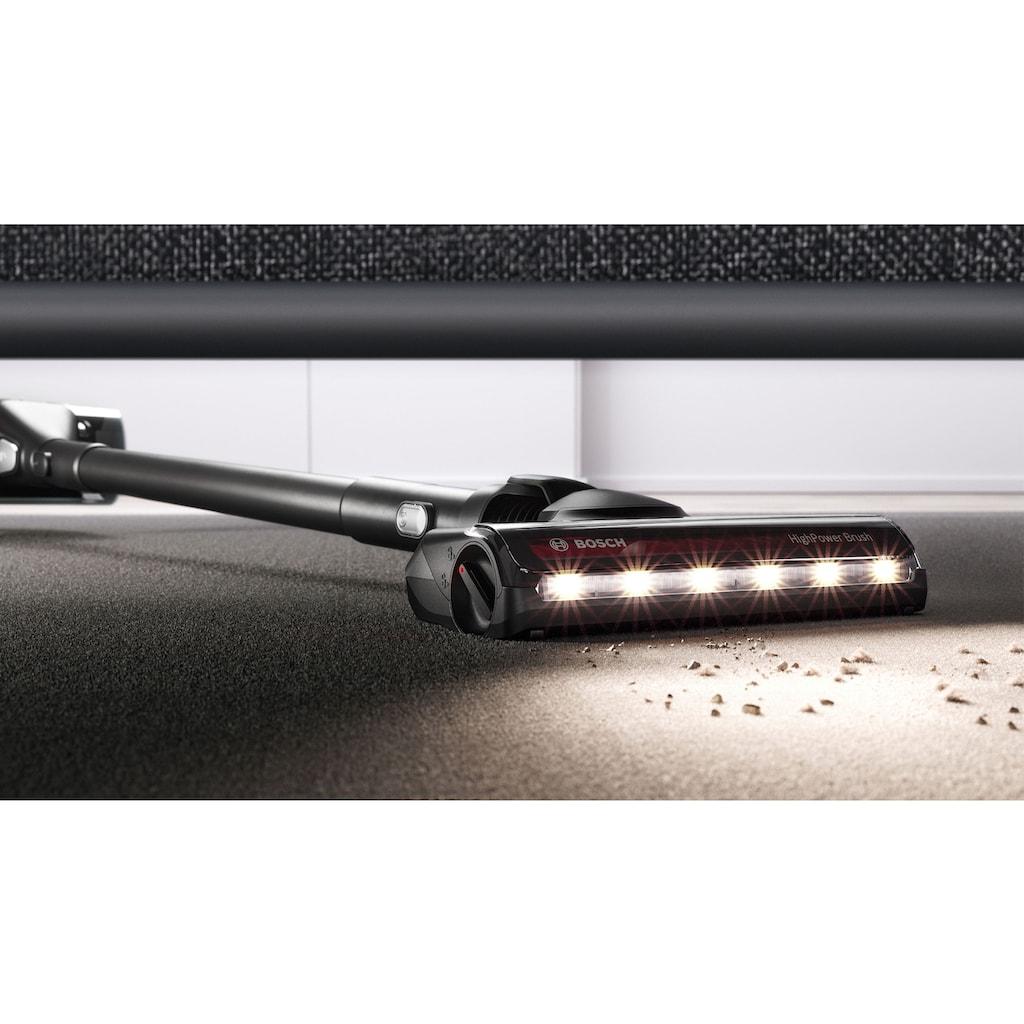 BOSCH Akku-Stielstaubsauger »BKS8214T Unlimited Serie | 8 Gen2,«, 45 Min Laufzeit, Hygienefilter, inkl. elektrische Minidüse und flexibler Fugendüse, schwarz