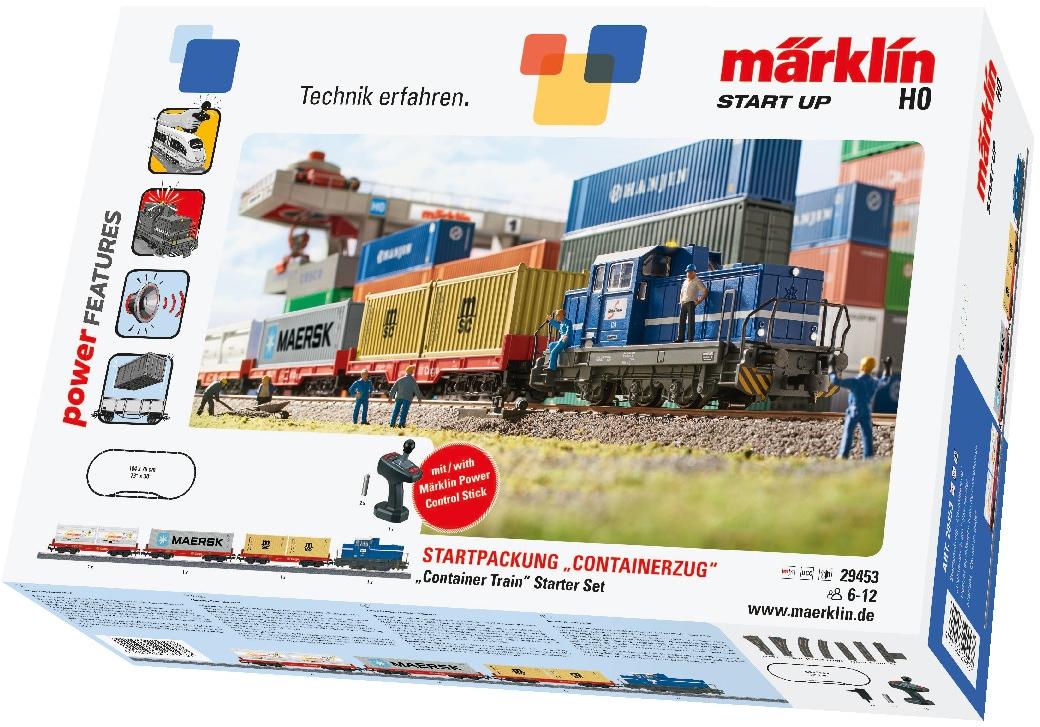 Märklin Modelleisenbahn-Set Start up - Containerzug 29453, Für Einsteiger, Made in Europe bunt Kinder Modelleisenbahn-Sets Modelleisenbahnen Autos, Eisenbahn Modellbau
