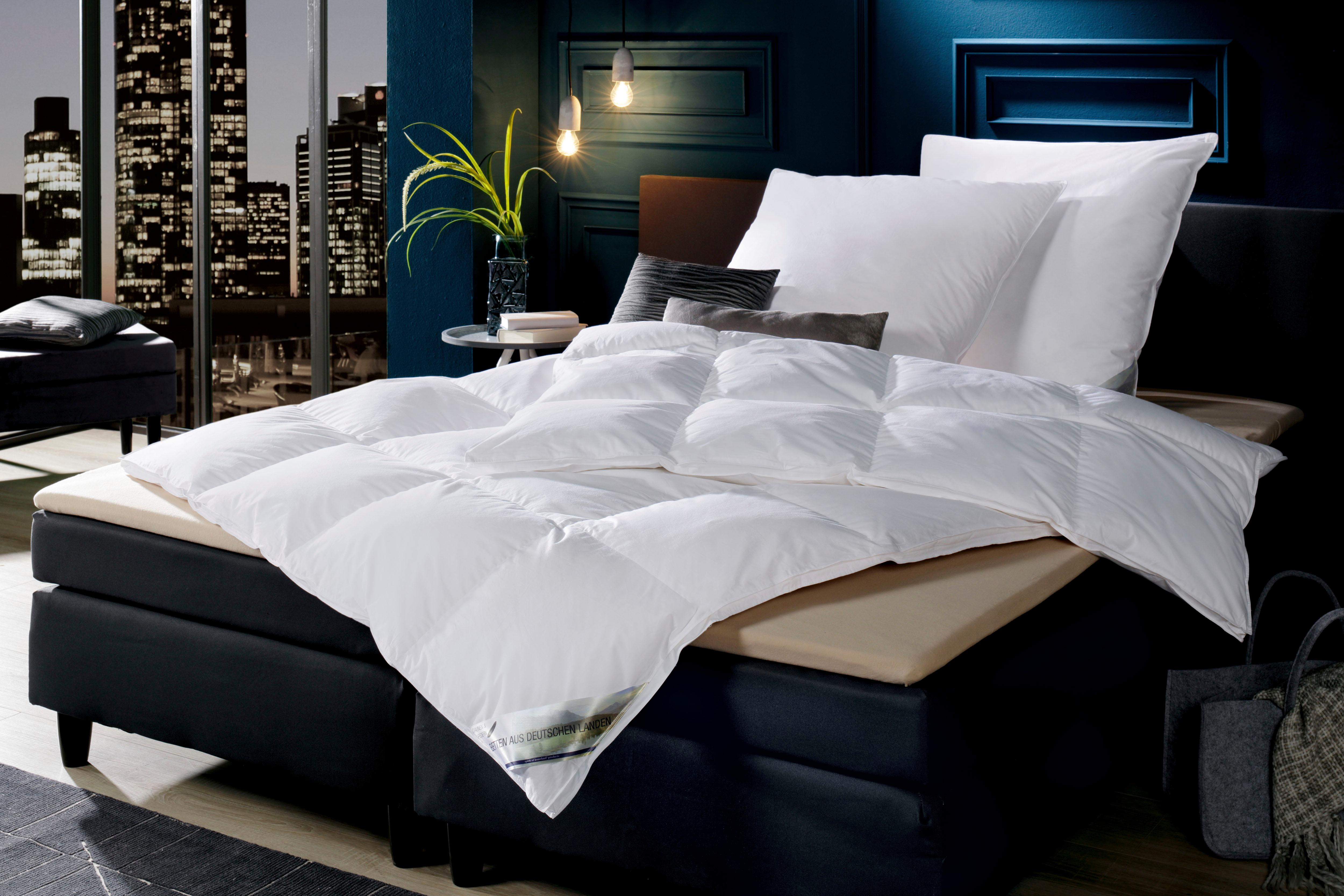 Daunenbettdecke Betten aus Deutschen Landen KBT Bettwaren extrawarm Füllung: 90% Daunen 10% Federn Bezug: 100% Baumwolle