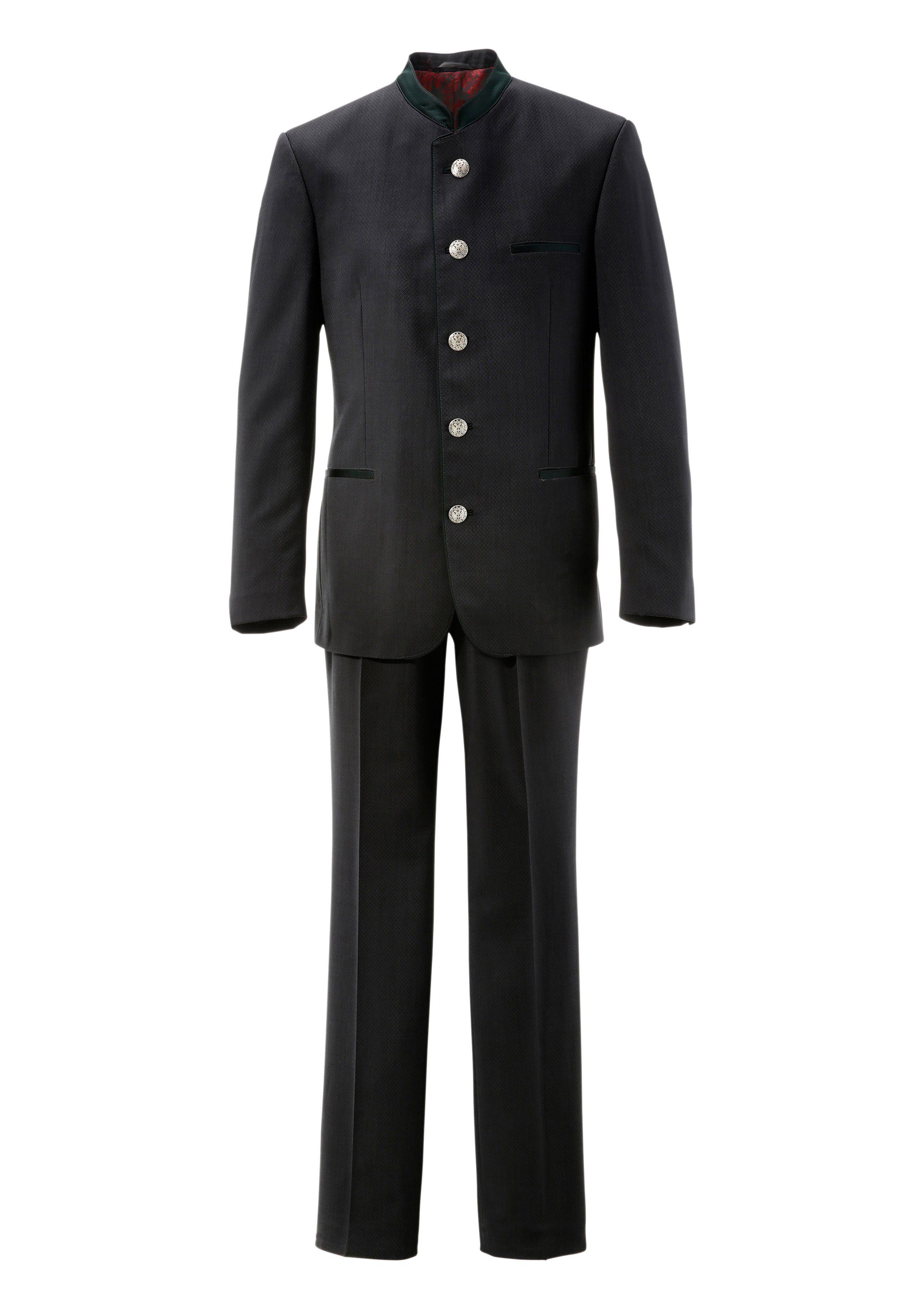 Murk Trachtenanzug mit Stehkragen   Bekleidung > Hosen > Trachtenhosen   Grau   Murk