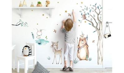 little DECO Wandtattoo »Little Deco Wandtattoo Waldtiere Pfeil Bogen & Baum« kaufen