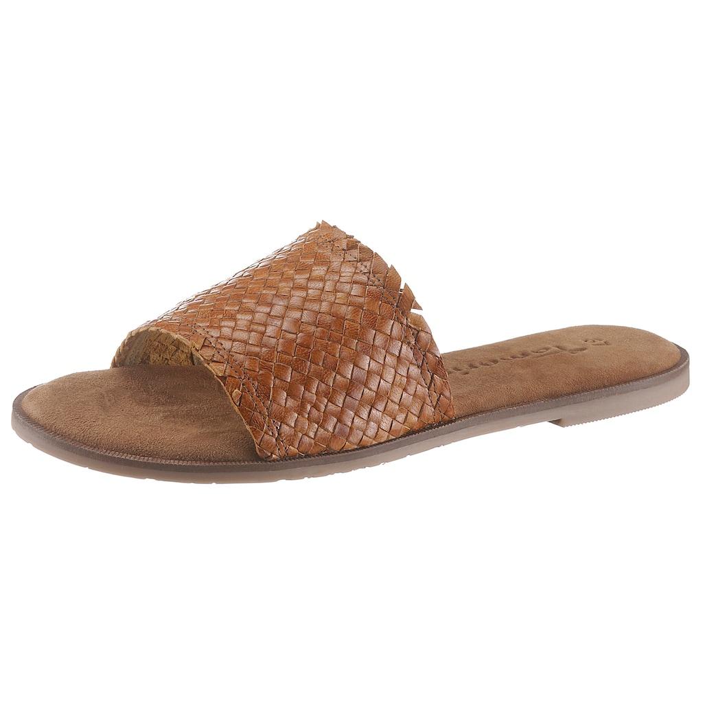 Tamaris Pantolette »Crusy«, mit geflochtener Bandage, schmale Form