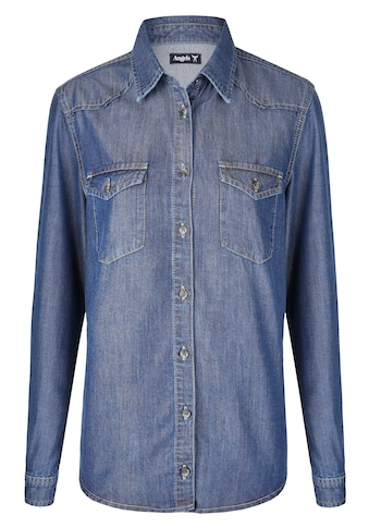ANGELS Hemd,Casual Shirt' in Jeansoptik kaufen