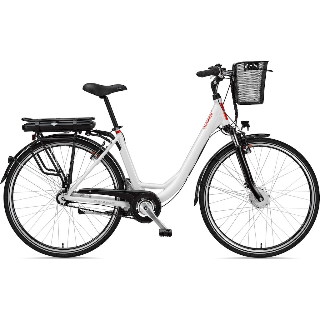 Telefunken E-Bike »RC657 Multitalent«, 7 Gang, Shimano, Nexus, Frontmotor 250 W