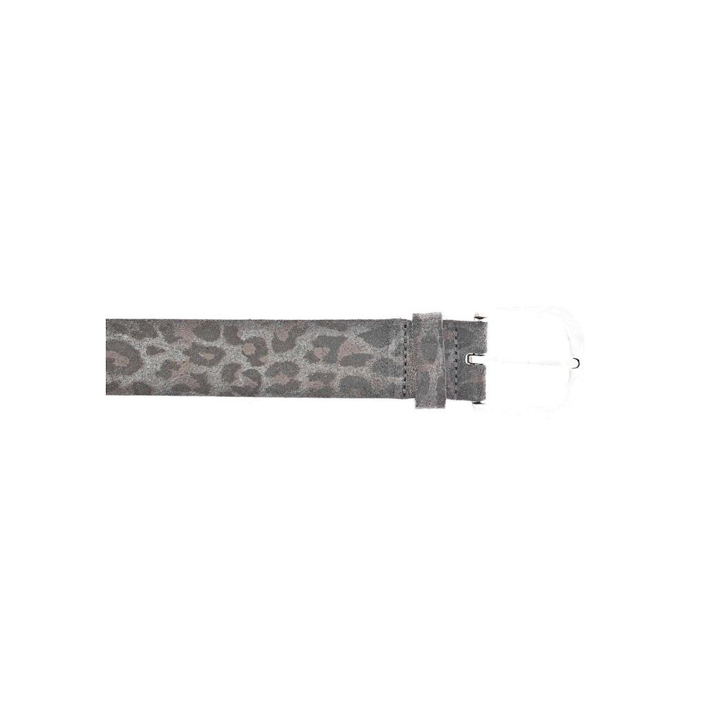 Vanzetti Ledergürtel, mit Leomuster