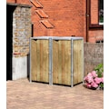 Hide Mülltonnenbox, für 2 x 120 l, natur