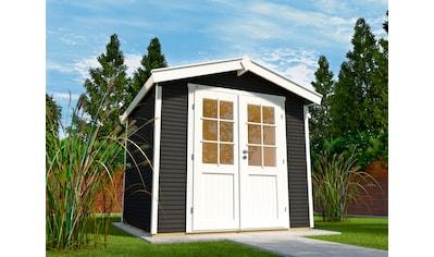 WOLFF FINNHAUS Gartenhaus »Klassik 2424 Softline«, BxT: 269x273 cm, inkl. Fußboden kaufen