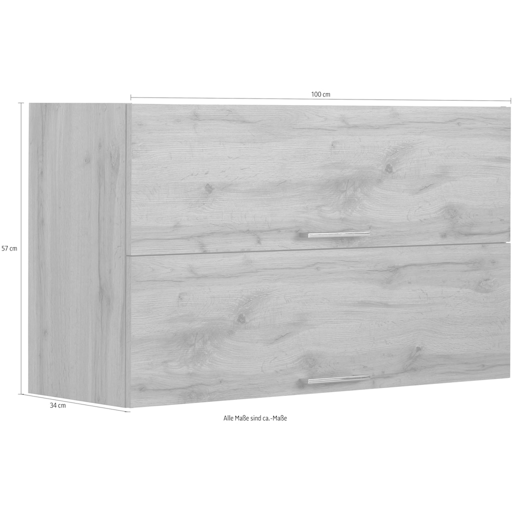 HELD MÖBEL Klapphängeschrank »Colmar«, 100 cm, mit Metallgriff, für viel Stauraum