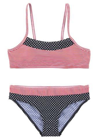 s.Oliver Bustier-Bikini, Im Streifen und Punkte Mix kaufen