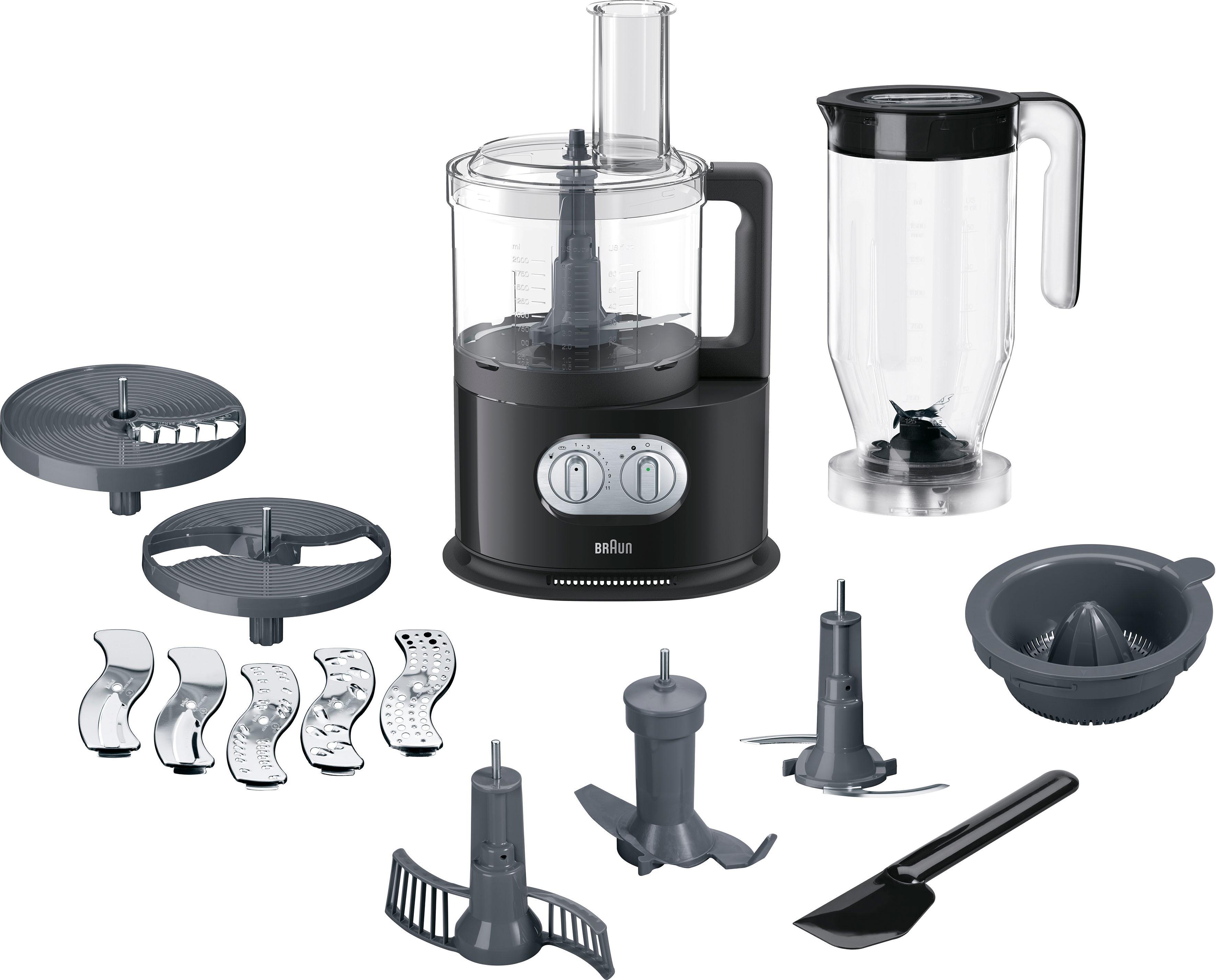 Braun Küchenmaschine mit Kochfunktion FP 5150, 1000 Watt, Schüssel 2 ...