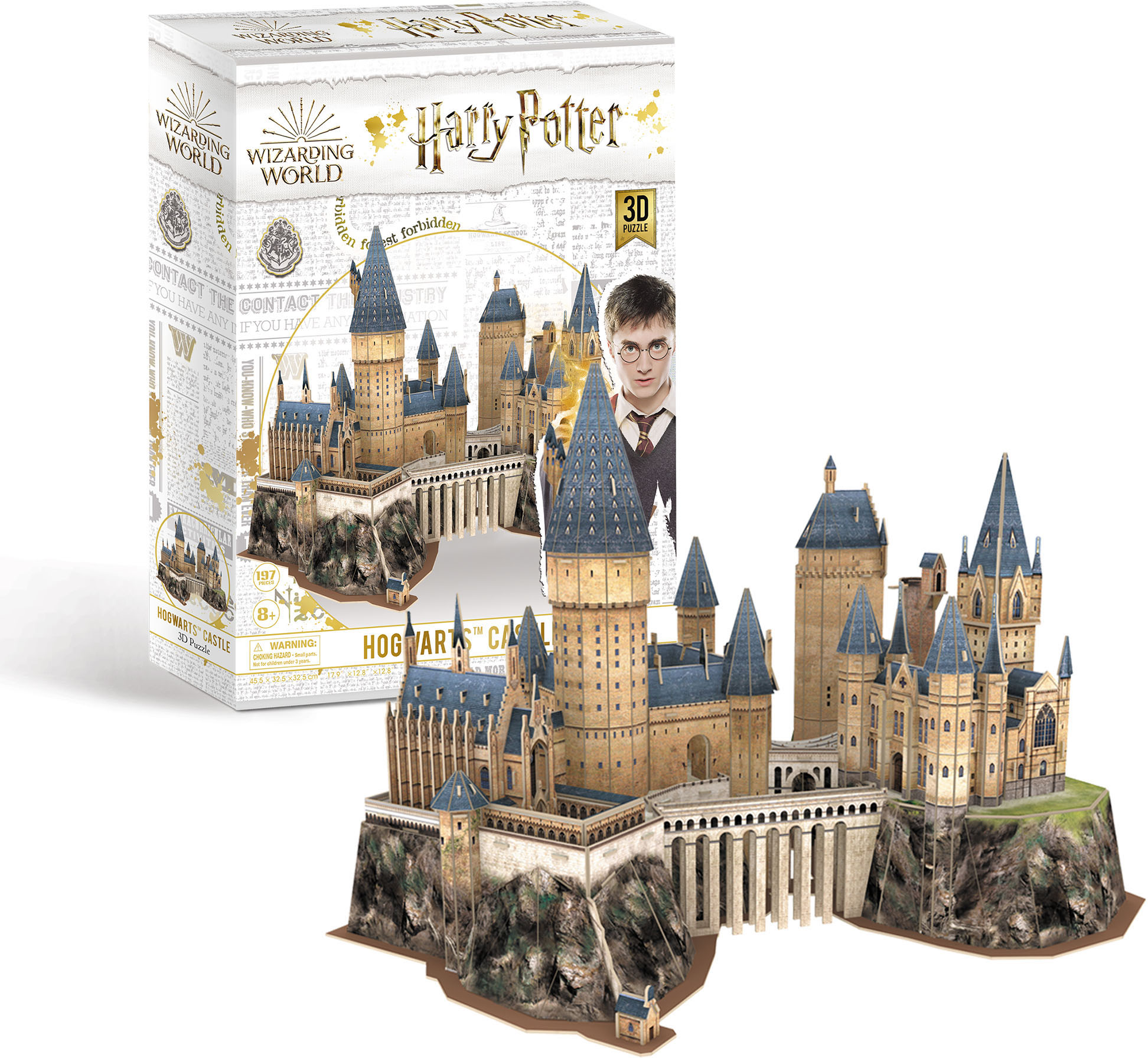 Revell 3D-Puzzle Harry Potter Hogwarts™ Castle, das Schloß braun Kinder 3D Puzzle Gesellschaftsspiele