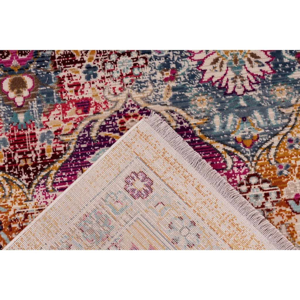 me gusta Teppich »Anouk 200«, rechteckig, 5 mm Höhe, Flachgewebe, Vintage Look, Wohnzimmer