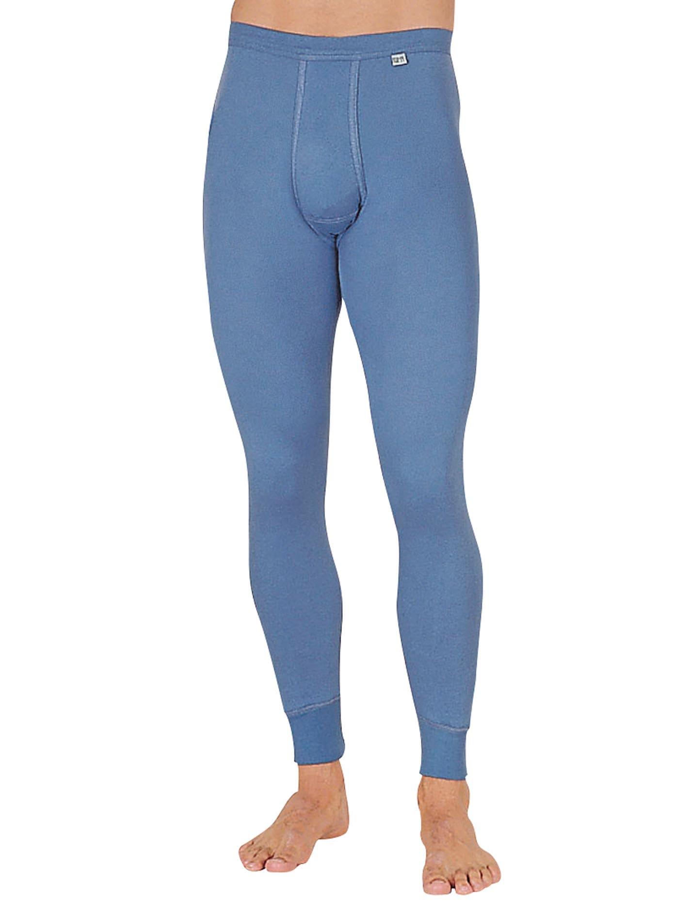 KUMPF Lange Unterhose, (1 St.) blau Herren Unterhosen Herrenwäsche Unterhose