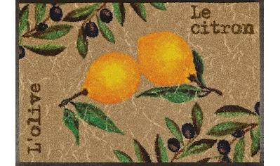 wash+dry by Kleen-Tex Fußmatte »Le Citron«, rechteckig, 7 mm Höhe, Schmutzfangmatte,... kaufen
