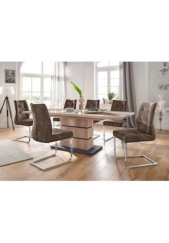 Homexperts Essgruppe »Bonnie«, Breite 160 cm mit Auszug und 4 Stühlen kaufen