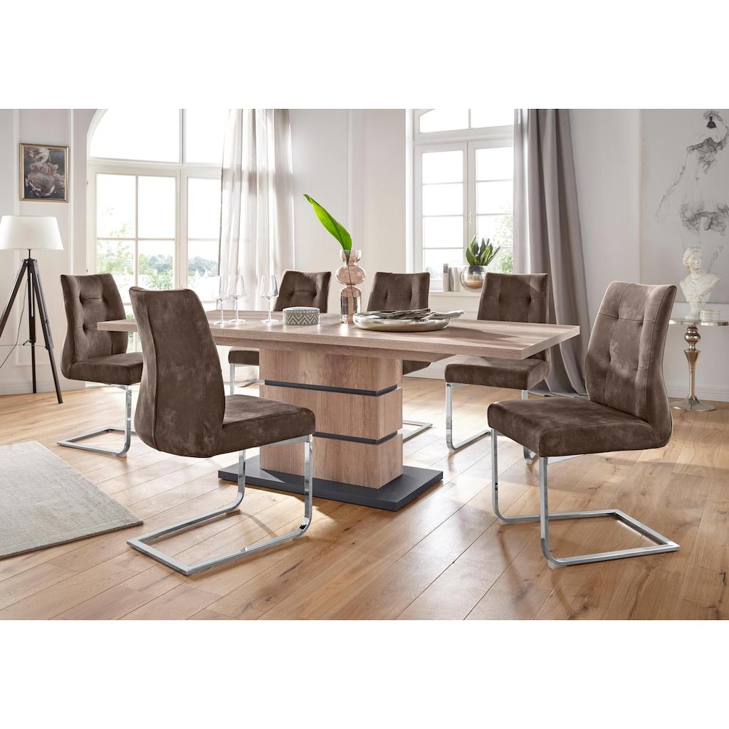 Homexperts Essgruppe »Bonnie«, Breite 160 cm mit Auszug und 4 Stühlen