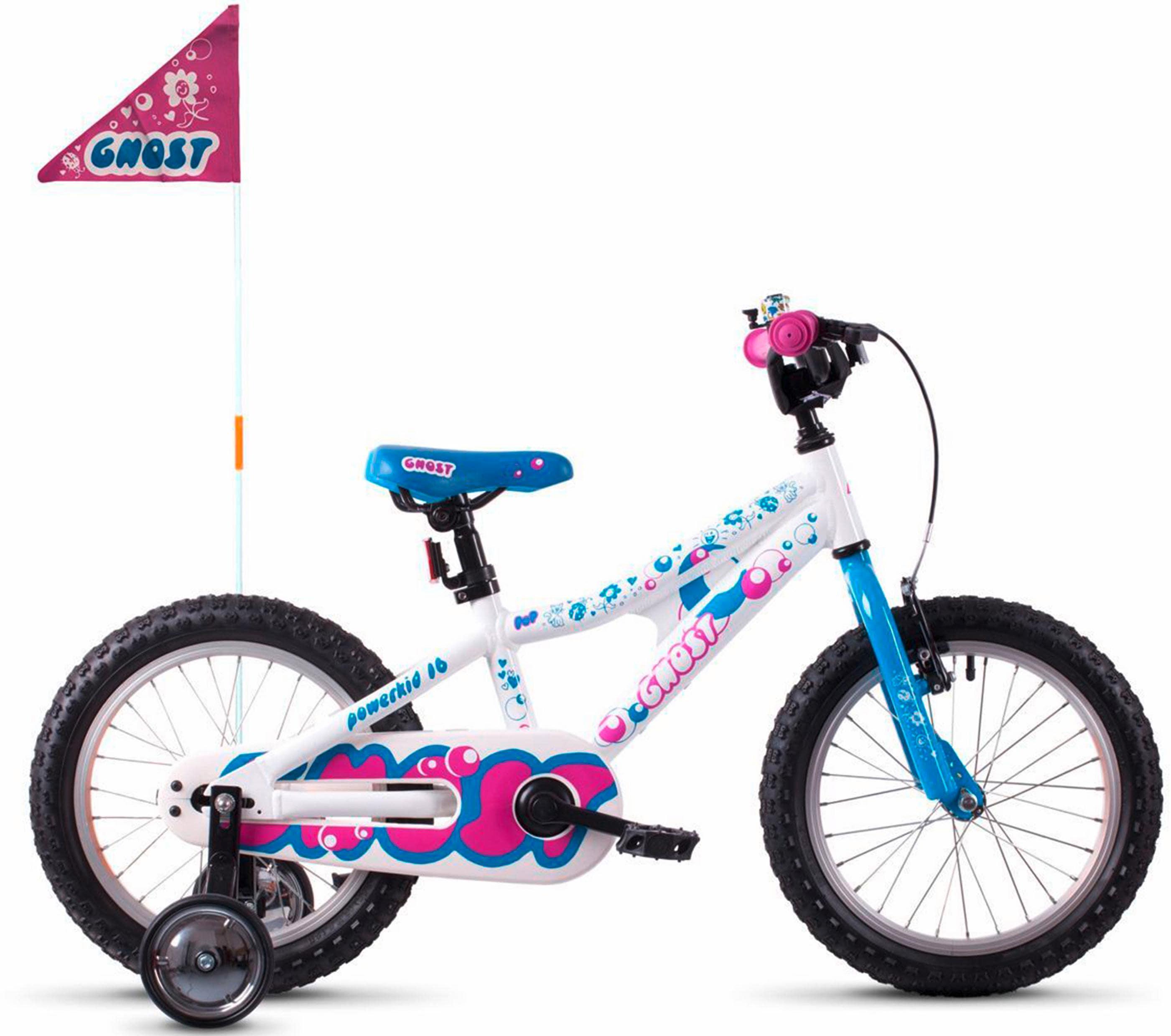 Ghost Kinderfahrrad POWERKID AL 16 K weiß Kinder Kinderfahrräder Fahrräder Zubehör Fahrrad