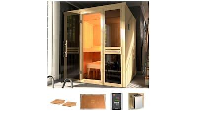 WEKA Sauna »Classic«, 177x194x199 cm, 7,5 kW Bio - Kombiofen mit ext. Strg., Fenster kaufen