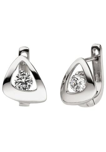JOBO Paar Creolen, 925 Silber mit 2 Zirkonia kaufen
