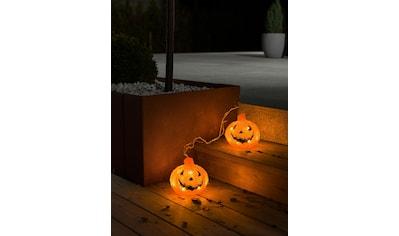KONSTSMIDE LED-Lichterkette, 24 St.-flammig, LED Acryl Kürbis, 2er Set, 24 warm weiße... kaufen