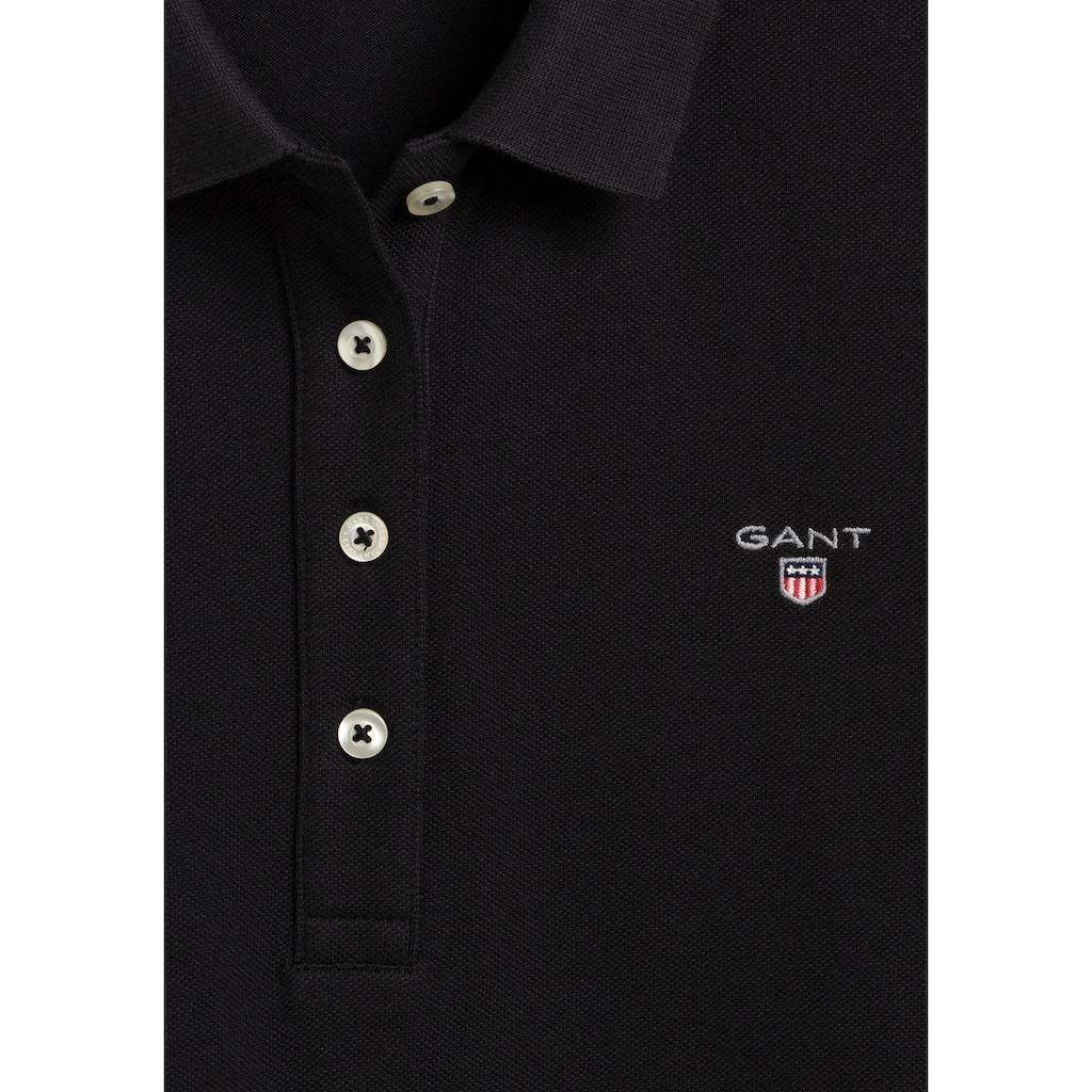 Gant Poloshirt, in Piqué-Qualität Langarm