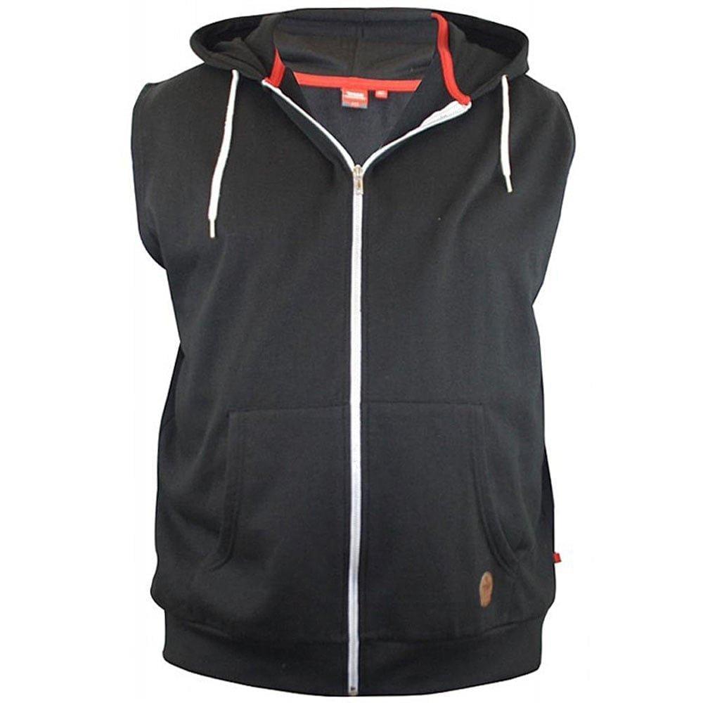 Duke Clothing Sweatweste Herren Kapuzenweste Blake Kingsize ärmellos | Bekleidung > Westen > Sweatwesten | Schwarz | Duke Clothing