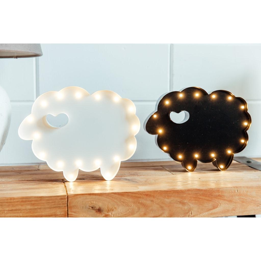 MARQUEE LIGHTS LED Dekolicht »Schaf«, 1 St., Warmweiß, Wandlampe, Tischlampe Sheep mit 17 festverbauten LEDs - 31cm Breit und 24cm hoch