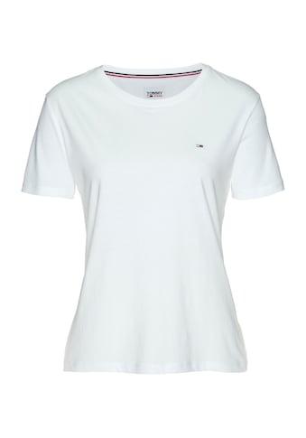 Tommy Jeans Rundhalsshirt »TJW SOFT JERSEY TEE«, mit Tommy Jeans Logo-Flag & Tommy... kaufen