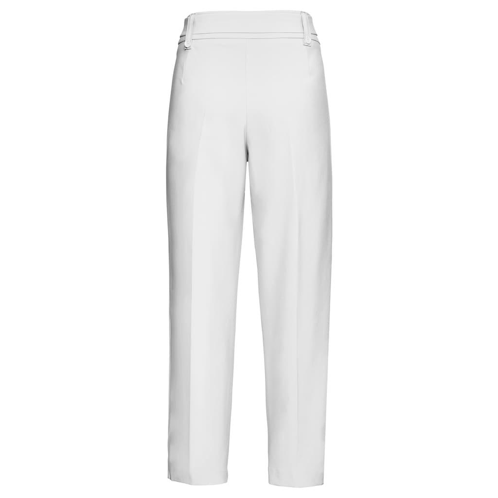bianca Stretch-Hose »PARIGI«, in der angesagten Trendfarbe mit Bindegürtel