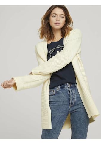 TOM TAILOR Denim Cardigan »Strukturierter Cardigan-Mantel« kaufen
