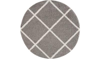 Sanat Hochflor-Teppich »Madrid 1352«, rund, 30 mm Höhe, Wohnzimmer kaufen