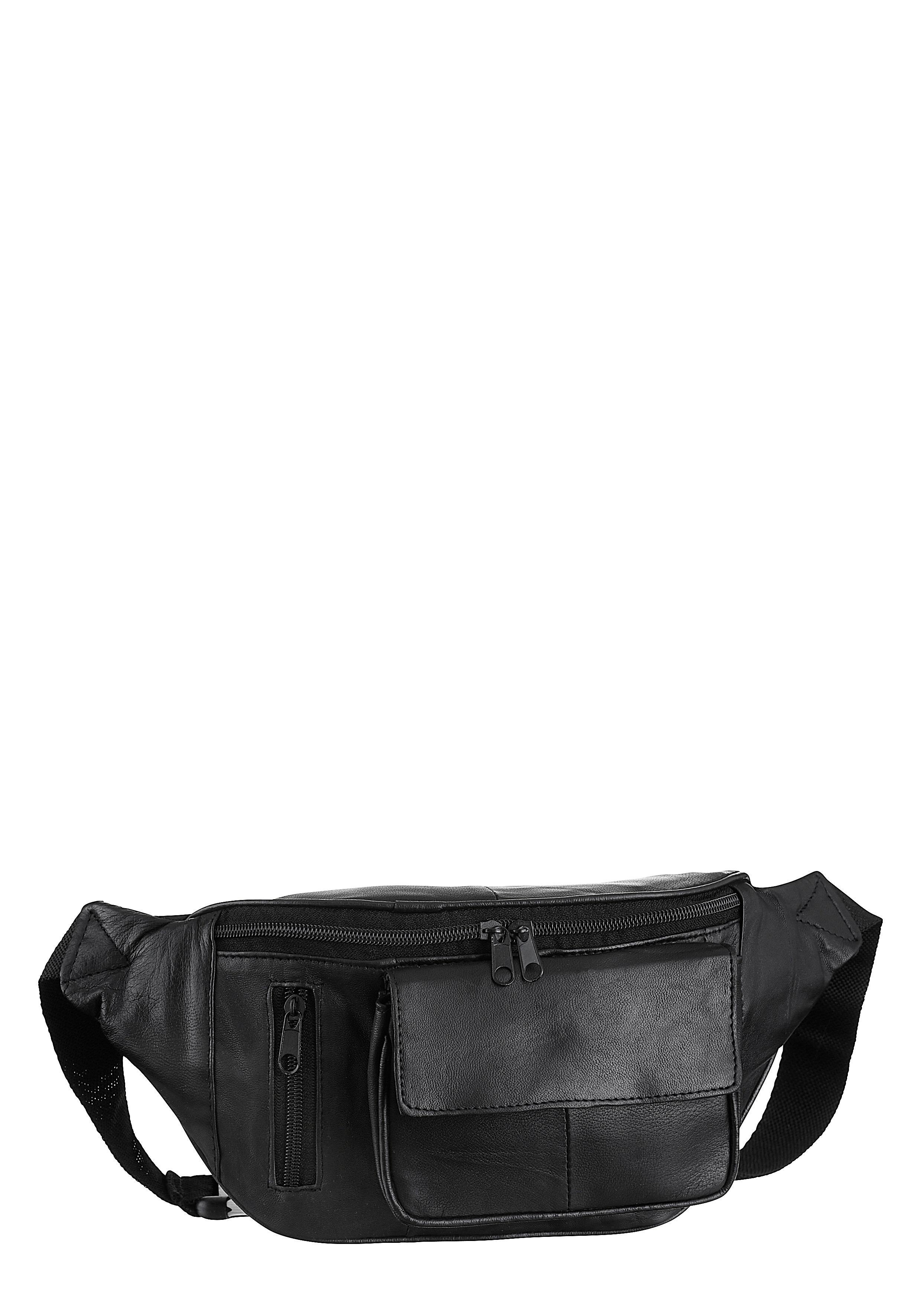 J.Jayz Gürteltasche, mit vielen Fächern und Täschchen schwarz Damen Handtaschen Taschen Gürteltasche
