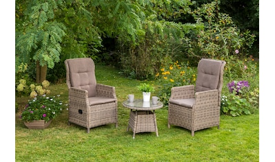 MERXX Gartenmöbelset »Riviera«, 5tlg., 2 Sessel, Tisch, verstellbar, Polyrattan kaufen