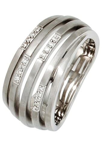JOBO Diamantring, breit 925 Silber mit 16 Diamanten kaufen