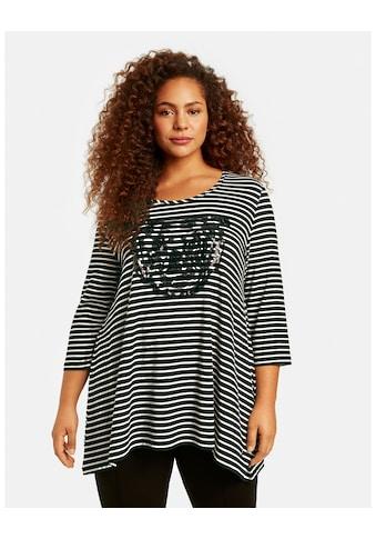 Samoon Rundhalsshirt »Ausgestelltes Ringelshirt mit Tiger - Motiv« kaufen