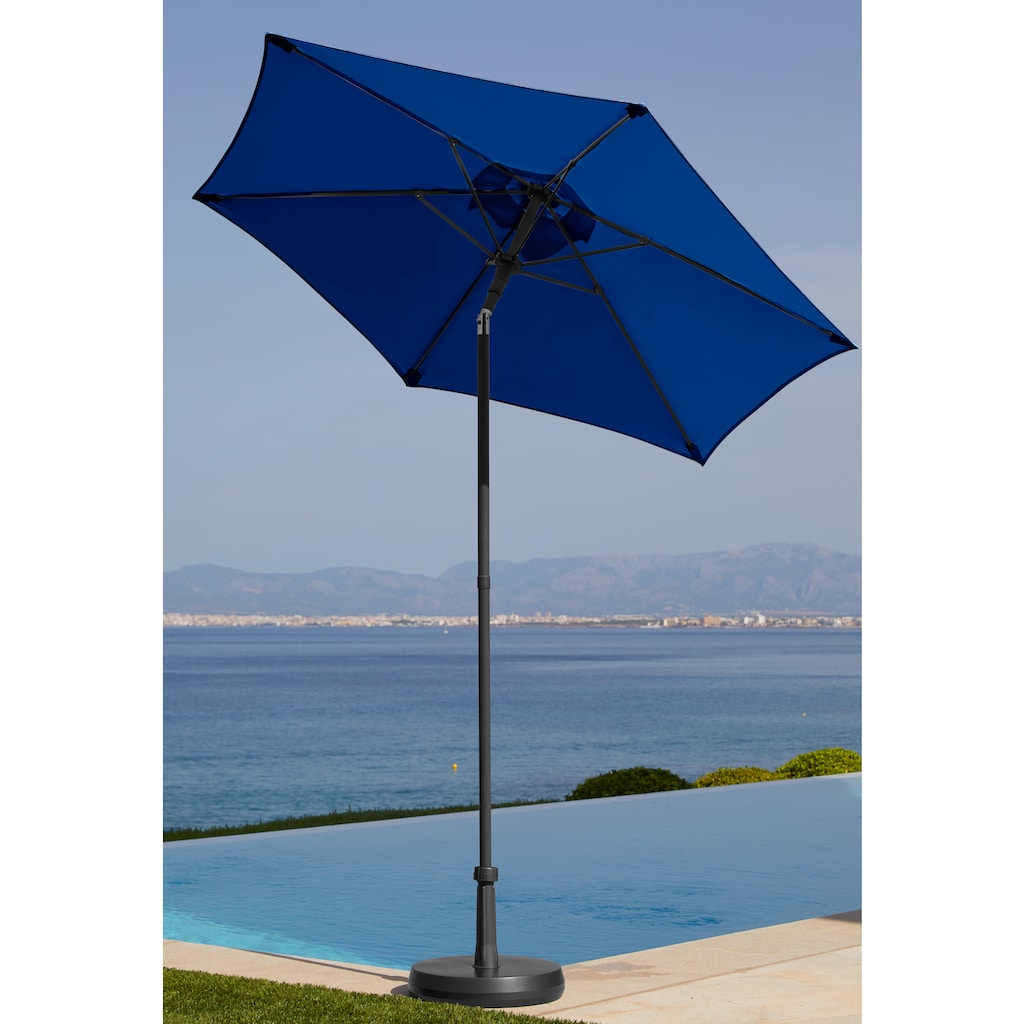 garten gut Sonnenschirm »Push up Schirm Rom«, abknickbar, ohne Schirmständer