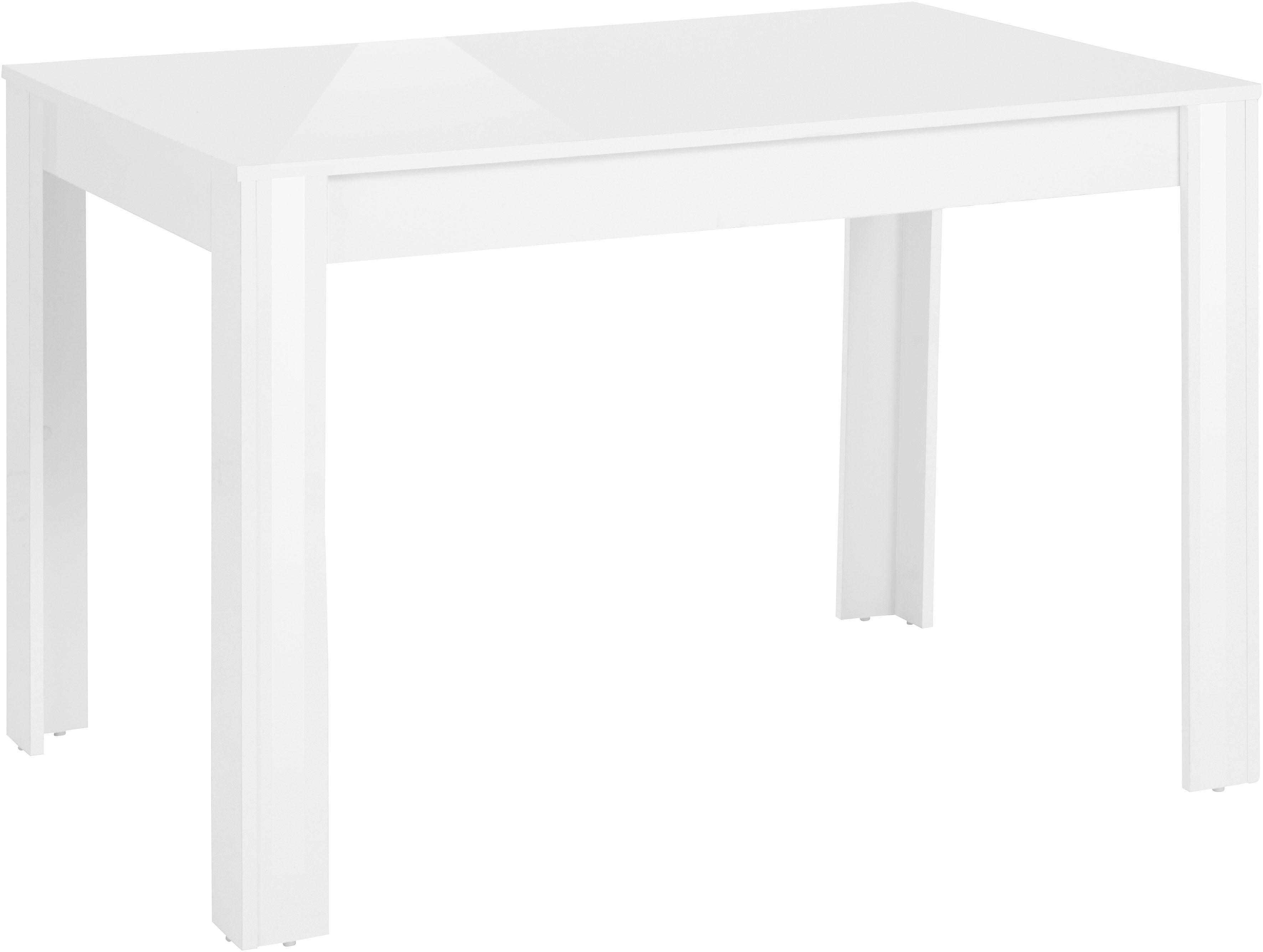 my home Esstisch Lynn, Breite 80 oder 120 cm weiß Esstische quadratisch Tische