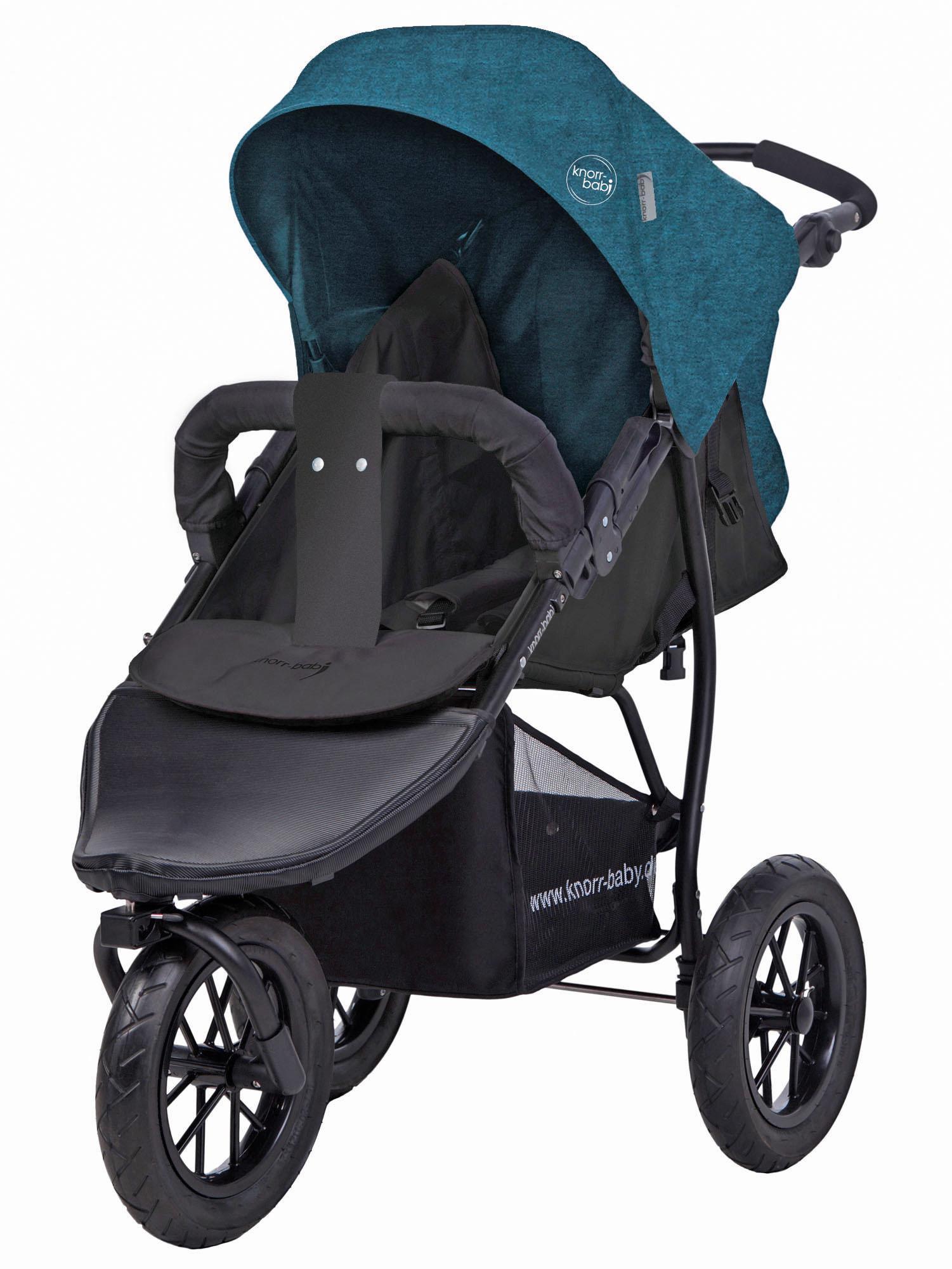 "Knorrbaby Jogger-Kinderwagen ""Joggy S Melange petrol"" Kindermode/Ausstattung/Kinderwagen & Buggies/Kinderwagen/Jogger-Kinderwagen"