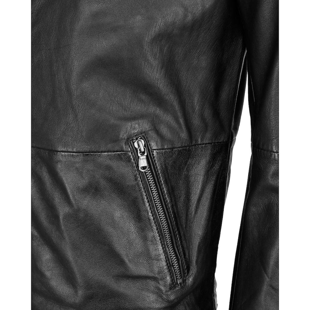 JCC Lederjacke »Stylische Lederjacke mit einer Brusttasche«, MM21-1-02