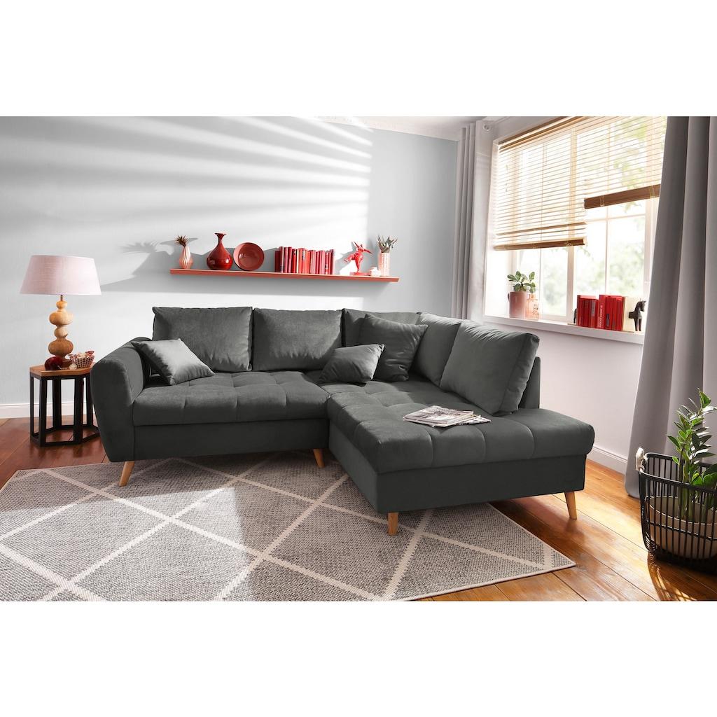 Home affaire Ecksofa »Penelope Luxus«, mit besonders hochwertiger Polsterung für bis zu 140 kg pro Sitzfläche