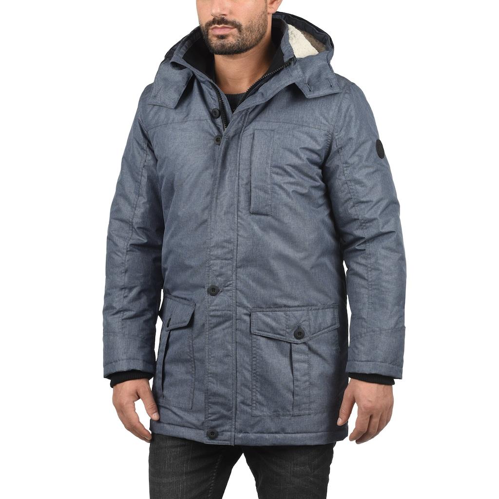 Solid Winterjacke »Octavus«, lange Jacke mit abnehmbarer Kapuze und Kunstfellkragen