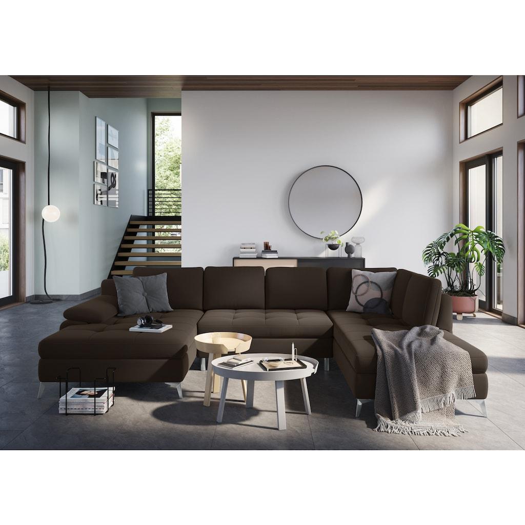 sit&more Wohnlandschaft, mit Recamiere, wahlweise mit Bettfunktion und Bettkasten