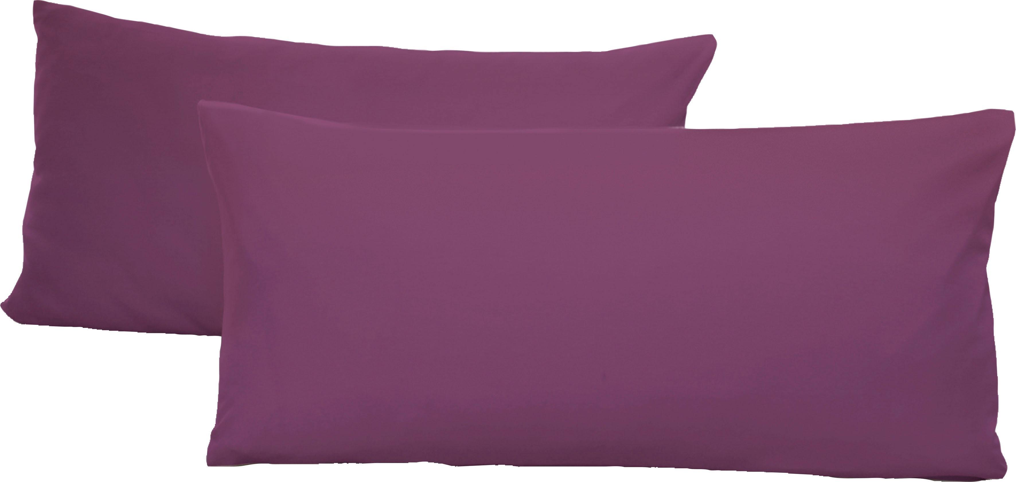 Schlafgut Kissenbezüge Jersey, (2 St.), mit Aloe Vera Ausrüstung lila gemustert Kissen