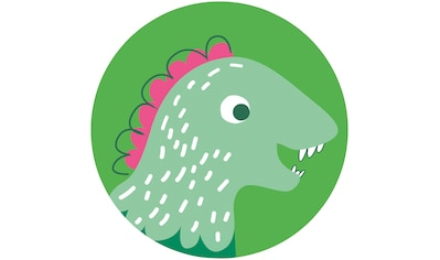 Komar Fototapete »Little Dino Tyranno«, bedruckt-Comic-Retro-mehrfarbig, BxH: 128x128... kaufen