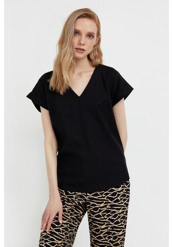 Finn Flare Klassische Bluse, mit V-Ausschnitt kaufen