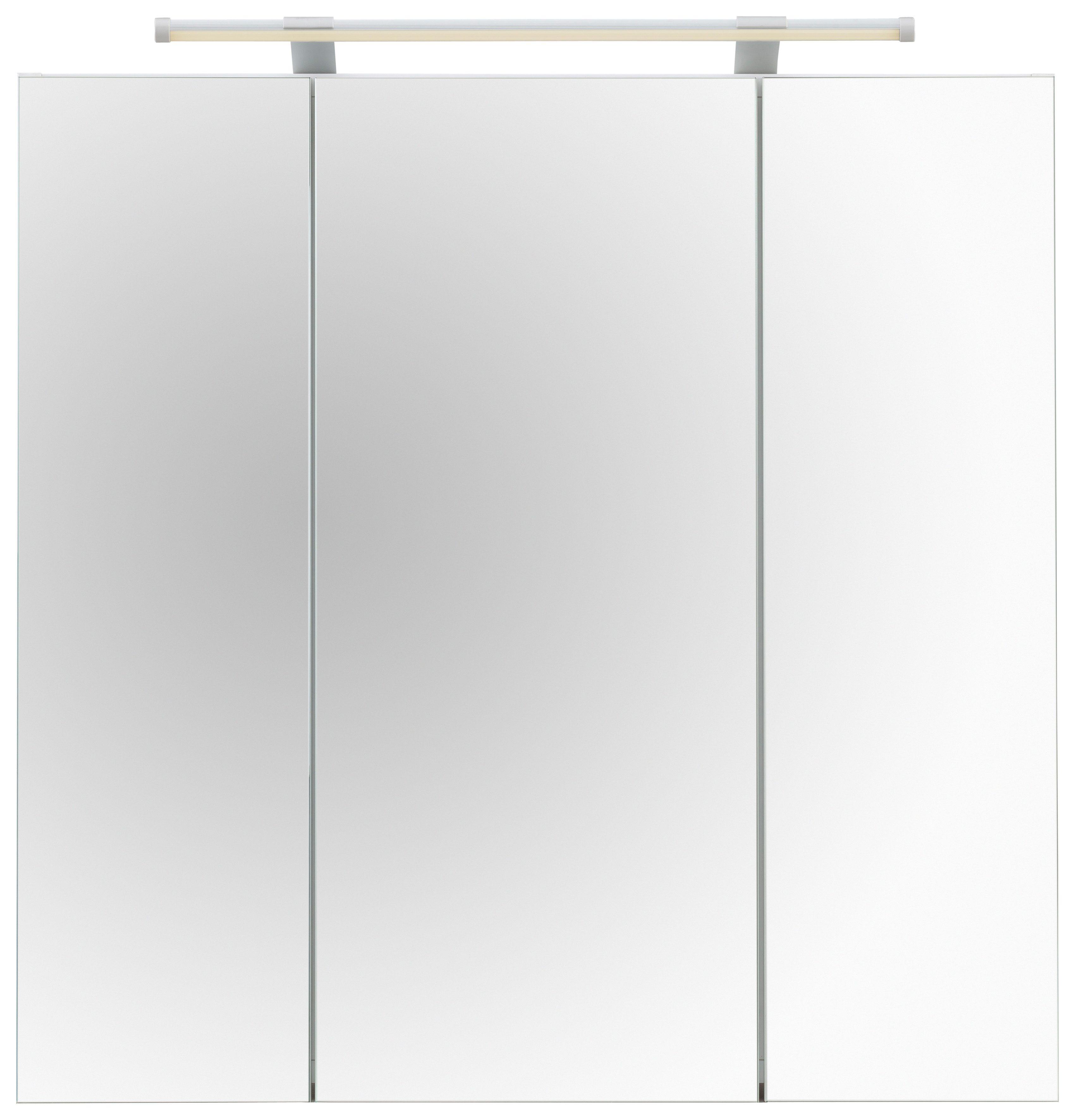 Bad Spiegelschrank Dorina mit LED-Beleuchtung SCHILDMEYER weiß
