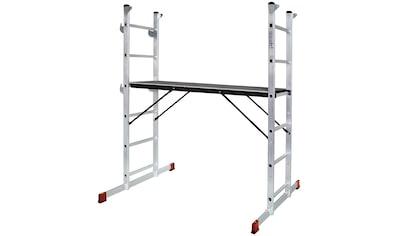 Arbeitsgerüst, belastbar bis 135 kg, Arbeitshöhe bis 3 m, Plattform BxTxH 1200x410x955 mm kaufen