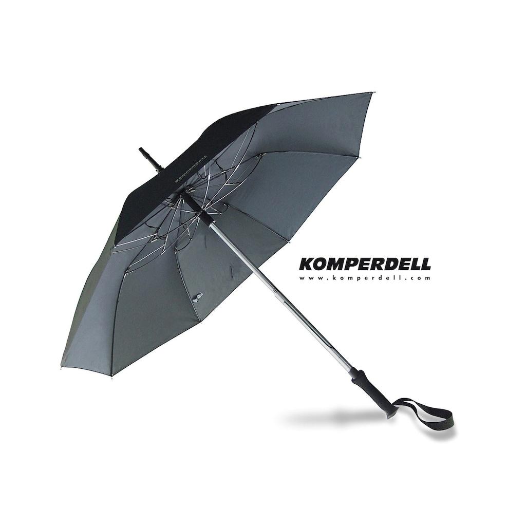 Euroschirm Stockregenschirm »KOMPERDELL Teleskop-Wanderstock m. integriertem Schirm«, mit integriertem Wanderstock
