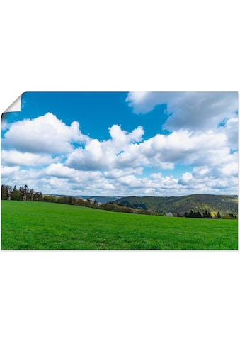 Artland Wandbild »Wolken ziehen langsam über das Land«, Himmel, (1 St.), in vielen... kaufen